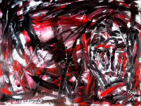 ~ Dark stream of thoughts ~ Acrylique