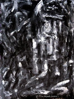 ~ Dark surroundings II ~ Acrylique